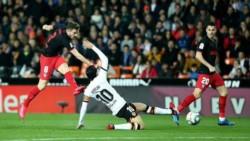 Valencia amplía a 11 partidos sin ganar la peor racha de su historia ante el Atlético (6 en Madrid y 5 en Valencia).