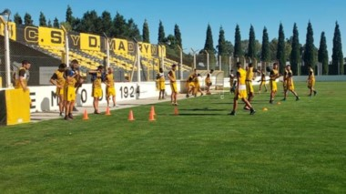 Deportivo Madryn se entrenó ayer en el Abel Sastre, con vistas al partido de mañana ante Cipolletti, válido por la fecha 19 del campeonato.