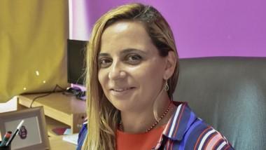 Lorena Alcalá, concejal. Mano a mano en una entrevista con Jornada sobre el protocolo en el Concejo.