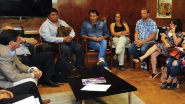 Cumbre. Una postal del encuentro del viernes de los gremios docentes con el Gobierno para discutir.