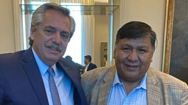"""Según el """"Loma"""", Alberto le pidió unir a todos los sectores en Chubut."""