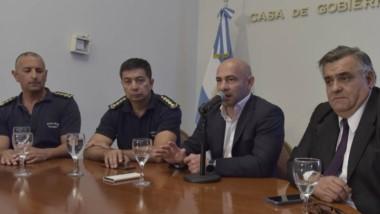 La conferencia de prensa brindada ayer por el ministro de Seguridad por las repercusiones del caso Sastre.