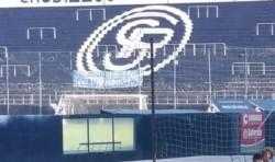 Durante la práctica de Independiente Rivadavia.