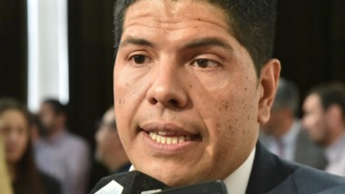 """Contudente. El secretario de Trabajo, Cristian Ayala, habló de """"hipocresía"""" por parte del gremio docente."""
