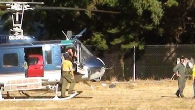 En temporada. El helicoptero del SNMF se retira al finalizar el verano.