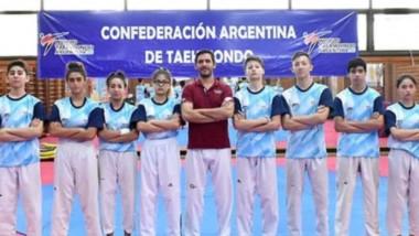 Camilo Ávila, de Puerto Madryn, fue parte del seleccionado de taekwondo que entrenó con Crismanich.