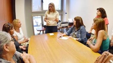 Los referentes del sector pasivo ayer se reunieron con la Defensora del Pueblo Claudia Bard.