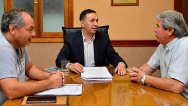Reunión con el intendente Maderna.