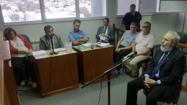 """Declaración. El actual diputado provincial y expresidente del ISSyS, Carlos Mantegna, trató de """"mentiroso"""" al escribano Fossatti en la audiencia."""