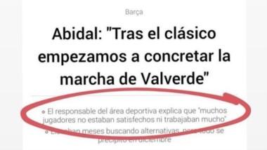 Messi responde a Abidal como capitán y portavoz del vestuario. No es normal que el secretario técnico ataque a la plantilla, los ha dejado por vagos.