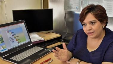 Flor María Montoya López, coordinadora del área de idiomas.