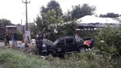 Tres personas del grupo de cumbia Damas Gratis resultaron heridas tras el vuelco de una camioneta.