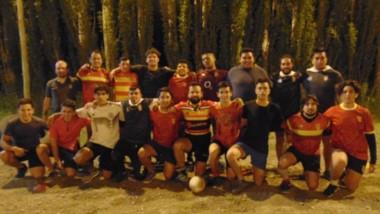 El plantel de La Española, durante la preparación para el debut en los torneos oficiales de la Urvch.