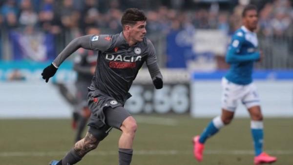 De Paul, héroe del Udinese: el argentino marcó el empate final 1-1 cuando se terminaba el encuentro ante Brescia y ya lleva 5 goles en el torneo.