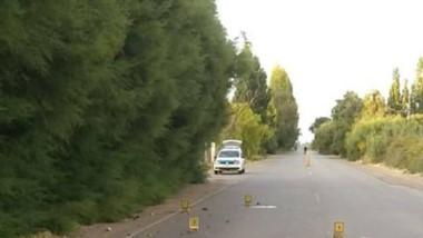 Peritos de la Policía Científica efectuaron mediciones en el lugar.
