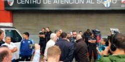 Ante la decisión unilateral de River, ni Atlético Tucumán ni Germán Delfino pudieron entrar al Monumental.