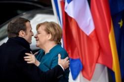 La buena sintonía entre los gobiernos de Macron y Merkel que refleja esta foto de archivo no debería alterarse por la pandemia.