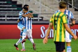 Racing perdía 1-3 pero en media hora marcó tres goles para ganarle 4-3 a Aldosivi.