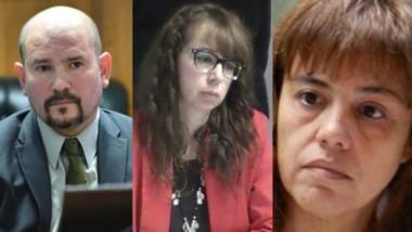 Sin probation. Barrios (izquierda) Marín y Moreno, tres de los funcionarios que negaron la suspensión.