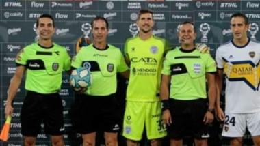 Savorani estuvo presente en el triunfo por 4-1 de Boca ante Godoy Cruz.