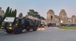 El cementerio de Bérgamo fue colapsado en estas horas.
