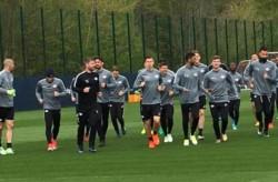 La sesión de entrenamiento se realizó sin tener contacto físico entre jugadores y se cambiaron en habitaciones individuales.