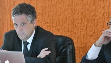 El fiscal Teodoro Nürnberg junto a su par Marcelo Gélez, de actuación clave en la causa.