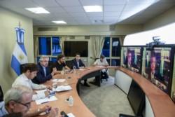 Imagen de archivo. estas reuniones se realizan en estos tiempos por videoconferencia.