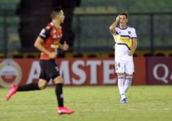 En la primera fecha del grupo H, Boca igualó 1 a 1 con Caracas, en Venezuela.