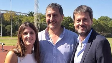 El titular de Chubut Deportes, Gustavo Hernández, estuvo con Inés Arrondo y Matías Lammens.