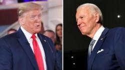 El presidente Donald Trump y su probable retador, el demócrata Joseph Biden, están parejos en un hipotético enfrentamiento.