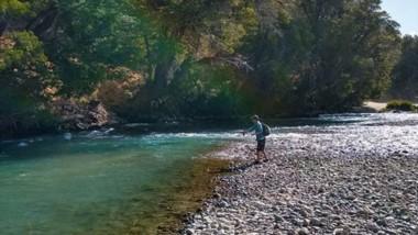 Destino privilegiado. Cholila ofrece la posibilidad de pescar en absoluta soledad.
