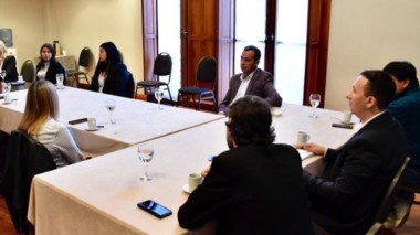 Madrna recibió a representantes legislativos en el Salón Histórico.