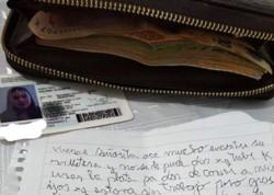 Yuliana Mezger y el 7 de diciembre extravió la billetera con 9000 pesos.