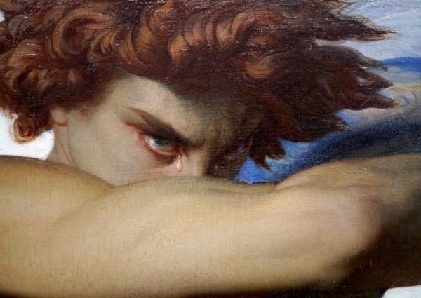 La obra el 'Ángel caído', del pintor Alexandre Cabanel, muy similar a la imagen del cielo.