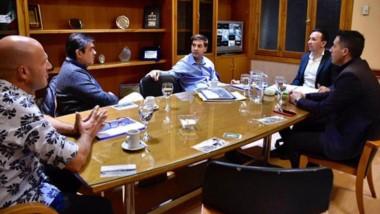 El intendente Maderna recibió a representantes de concesionarias.