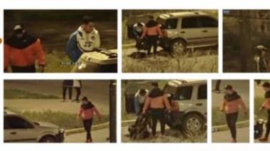 Los fotogramas de los presuntos autores de los daños en los edificios públicos fueron expuestos.