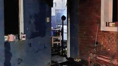 La casa quedó completamente destruida producto del poder del fuego.