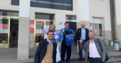Caruso Lombardi realizó una donación al personal sanitario de hospitales de Buenos Aires.