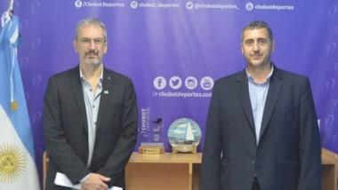 El ministro de Salud, Fabián Puratich, junto a Gustavo Hernández.