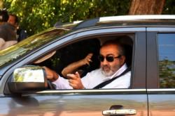 Héctor Daer llegando a la Quinta de Olivos este viernes.