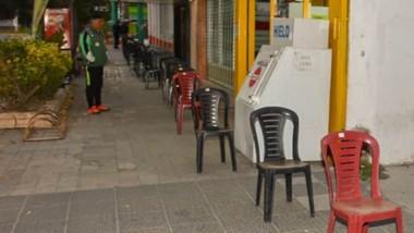 En Esquel también los jubilados tuvieron más comodidades ayer.