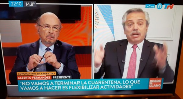 """""""Nunca tenenos que hablar de terminar la cuarentena porque no vamos a terminar la cuarentena"""", dijo Alberto Fernández."""
