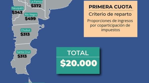 Las provincias ya recibieron los primeros $ 20 mil millones vía ATN: a Chubut llegaron $ 313 millones