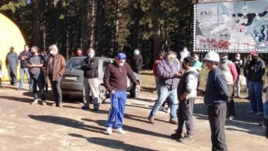 La marcha de los albañiles. Manifestaron su intención de trabajar y circular sin restricciones.