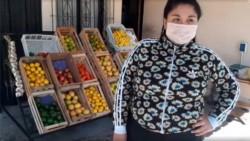 Ana mostró con orgullo la buena inversión que hizo de los 10.000 pesos.