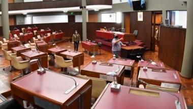Todo listo. El recinto se dejó ayer en condiciones para que los diputados puedan retomar la actividad.