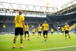 Luego de 66 días, Haaland marcó el primer tanto en el regreso del fútbol en Alemania.