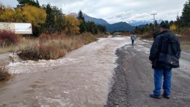 La localidad de Trevelin está en alerta por las fuertes lluvias.