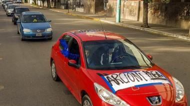 Carteles. Una de las pancartas que se pudieron leer en las calles.